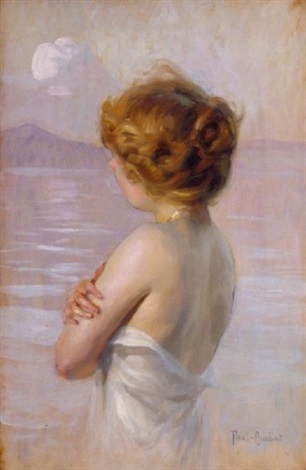Fille Au Bord De La Mer By Paul Emile Chabas On Artnet