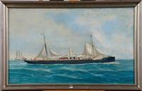 portrait du bateau hainaut by john henry mohrmann