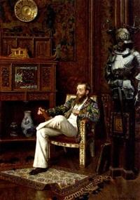 graf micha tyskiewicz in his kunst und wunderkammer by oreste cortazzo