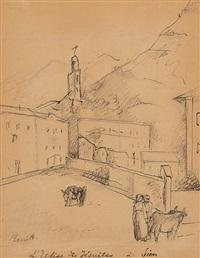 l'eglise des jésuites à sion by rené (victor) auberjonois