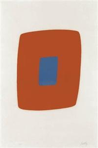 orange with blue by ellsworth kelly