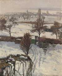 a snow covered landscape, geneva by jacques jacobi