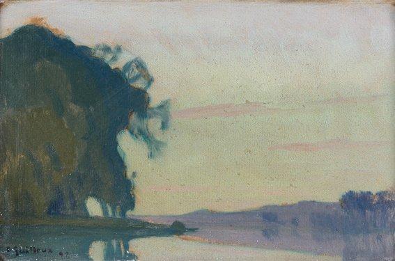 arbres au bord de l'eau by charles victor guilloux