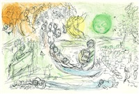 chagall - derriere le miroir - no. 99-100 (bk w/8 works, some in color) by marc chagall