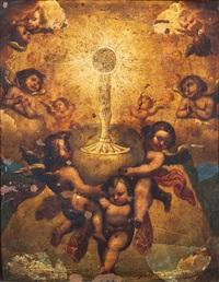 angeli in adorazione del sacramento by italian school-roman (17)