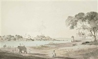 lucknow taken from the opposite bank of the river goomty by thomas daniell