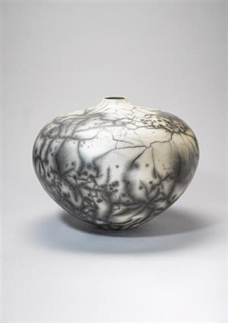 a large globular vase by david roberts