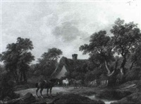 horses before a cottage by charles towne the younger