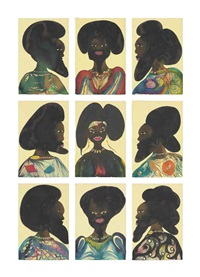 afro muses: harem 6 by chris ofili