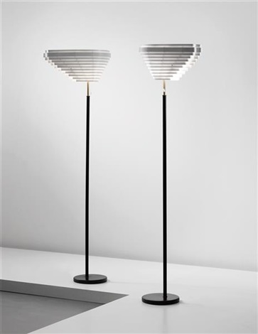 angels wing standard lamps model no a 805 designed for the national pensions institute helsinki pair by alvar aalto