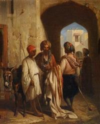 gespräch in einer orientalischen altstadt by bille
