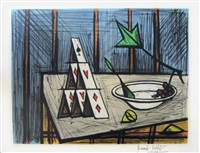 nature morte aux cartes by bernard buffet