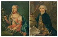 portrait d'un gentilhomme (+ portrait de sa femme; pair) by claude arnulphy