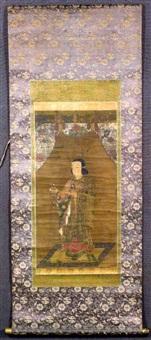 le prince umaya-do (shotoku taïshi) portant un brûle-encens by japanese school (17)