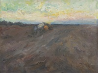 ploughing near runswick bay by mark senior
