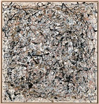 portrait of v.i. lenin in the style of jackson pollock vii by art & language