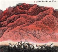 牧归图 (herd back) by ji xuejin