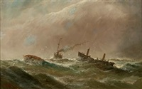 in difficulty at sea by william matthew hale