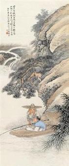 渔父图 立轴 设色纸本 by various chinese artists