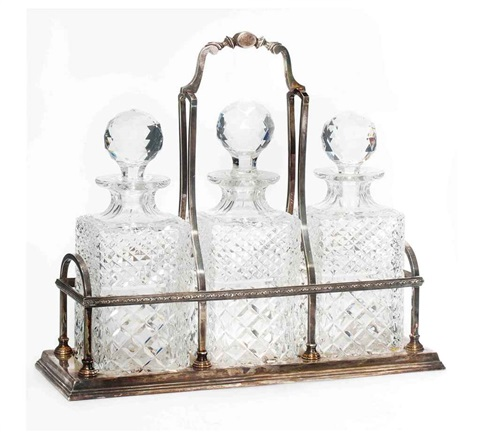decanter set set of 4 by cj vander ltd