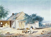 a settlers home at willowburn, toowoomba, queensland (+ while the billy boils on the range, toowoomba, queensland; 2 works) by charles e. astley