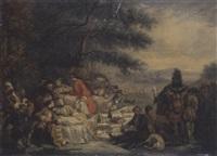 la halte de chasse by alexandre paul joseph veron