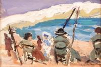 scène de plage (valence) by josé marie de la bastida y fernandez