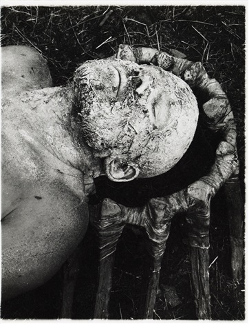untitled from the series vergrasung des kopfes by dieter appelt