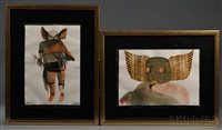 contemporary paintings (2 works) by leonard baskin