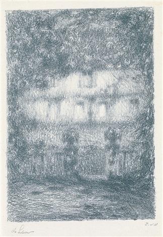 la maison au clair de lune by henri le sidaner