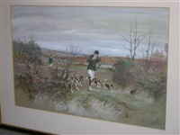 the widford beagles hunted by jack rawle (+ another; pair) by thomas ivester lloyd