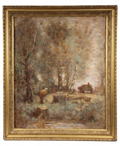loggers in woods by louis paul dessar