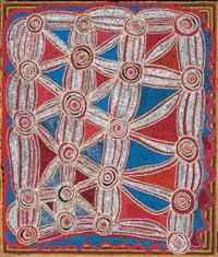 kuniya kutjarra - two carpet snakes by narputta nangala jugadai