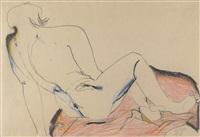 sitting female nude by karl anton fleck