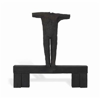 second version of the first open arm figure by magdalena abakanowicz