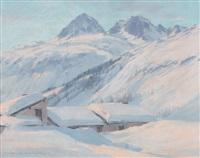 neige au village du tour by charles henry contencin