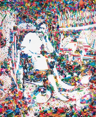 don quixote in his study after william lake price c1890 from rebus 2004 by vik muniz
