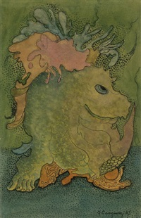 fantasy figure by ger (gerardus petrus) langeweg