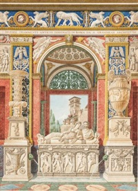 a fantasy of architectural and archeological fragments by auguste henri victor grandjean