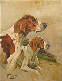 coupled hounds by gilbert scott wright