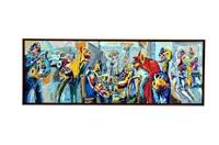 la farándula de la vida (triptych) by jazzamoart