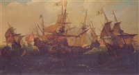 bataille navale by andries van artvelt (ertvelt)