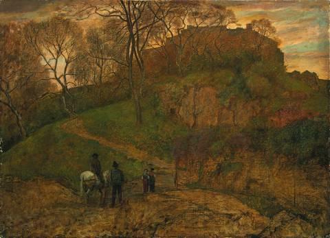 landschaft bei viterbo by hans thoma