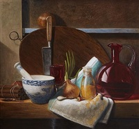 still life with red wine by stuart morle