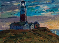 montauk point light by gifford beal