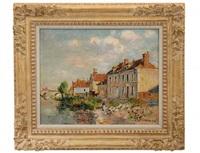 le quai saint-martin, auxerre by gustave loiseau