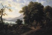 landschaft mit see im schwarzwald by fritz reiss