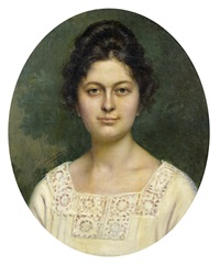andrée colette hubert, petite fille de jules aviat by jules charles aviat