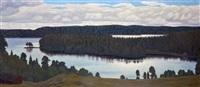 paysage de lac en suède by hilding werner