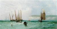 Herring boats off Flamborough Head, 1856–1856